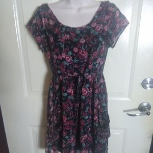 Band of Gypsies Black Rose Floral Dress